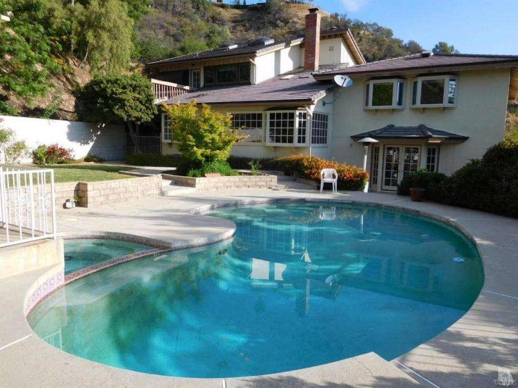 Outdoor Area and Pool Before